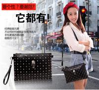 Punk Fashion Bags 2014 Sac desigual Skull Women Messenger Bag Rivet Shoulder Bags Envelope Clutch Party Colcci item Beautician