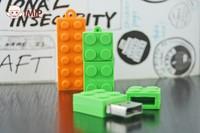 AC96 Green / Orange toy Gift Building block model external storage 2.0 Memory Stick usb flash Card pen drive disk 1GB to 32GB
