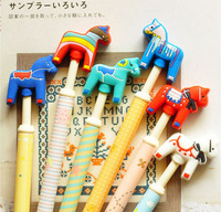 Japan  stationery wholesale crazy colt pressed gel pen  Horse  pen many color  free shipping