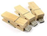 AC29 1GB 4GB 8GB 16GB 32GB Wooden clip model 2.0 usb drive memory flash stick pen disk Boy Toy Gift