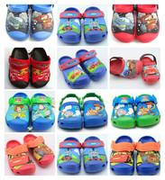 Hot-Sale 3D Croc-Shoes Kids Unisex Summer Casual Slipper Car/toystory/train US Size C6/7-C12/13