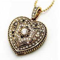 AJ4 Fashion Jewelry Crystal Heart Chian Necklace model 1GB 4GB 8GB 16GB 32GB 2.0 usb flash drive memory pendrive card Gift