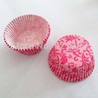 200Pcs pink damask Paper Cake Cup Cake Tool Bakeware Decorating Free Shipping