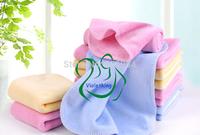200pcs/lot 7 uses Velvet towel Handkerchief baby bath shower tool Napkin bib Feeding sweat towel mat facecloth washcloth washrag