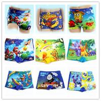 2014 New Summer Swim wear Trunks Cartoon Baby Boy Kid Child Boy swimwear Swimming Spiderman cartoons Costume QQ275