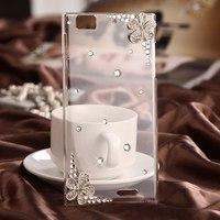 2014 New Lenovo K900 Case K 900 Lenovo Cover Diamond Flower Cell Mobile Phone Shell Phone Bag Accessories Case Cover