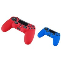 Free Shipping New Pack of 2 Color Combo Flexible Silicone Protective Case For Sony PS4 Game Controller - Red/Blue