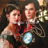The Vampire Diaries Katherine Pierce Petrova Victorian Cameo Pendant Necklace