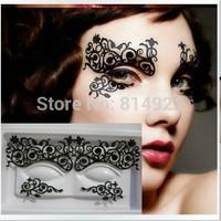 new 2014 eyelash extensions Fashion creative make-up paper-cut eye patch eyeliner stickers  eyelash lash curling perming