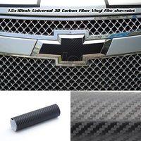 (2) Chevy Silverado Bowtie Emblem Black Blackout Carbon Fiber Overlay Decal