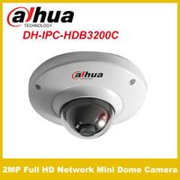 Original Dahua IPC-HDB3200C 2MP 1/3 CMOS Dome Camera Micro SD Card 2MP Full HD 1080P H.264 POE ONVIF CCTV Cameras OFF IP66
