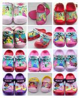 Hot-Sale 3D Croc-Shoes Kids Unisex Summer Slipper Princess/Prince/Dora US Size C6/7-C12/13-J1-J3