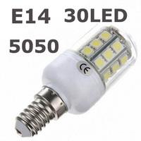 High Quality LED lamps E14 5050 SMD Wall light 220V 240V 30 LEDs Corn LED Bulbs 5.5W Spot light 1pcs/lots