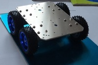 Smart car 4 x4 37 mm motor aluminum chassis robot chassis