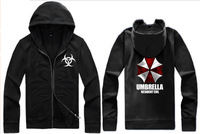 Free shipping 14 NEW Biohazard Umbrella Corporation Corp Logo Resident Evil Costume Cardigan hoddies 7color chinese size M--4XL
