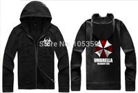 Free shipping 14 NEW Biohazard Umbrella Corporation Corp Logo Resident Evil Costume Cardigan hoddies 7color chinese size M--4XL