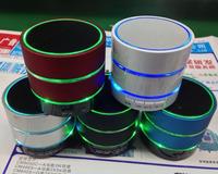 Portable mini jambox led flash light micro sd player mp3 fm radio Bluetooth speakers with microphone  Black white Free/Drop Ship