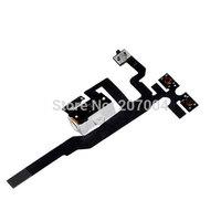Free shipping 10pcs/lot black white audio jack flex for iphone 4GS