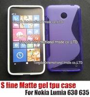 High Quality Black Soft TPU Gel S line Skin Cover Case For Nokia Lumia 630 635 Free Shipping FEDEX DHL EMS CPAM SGPAM