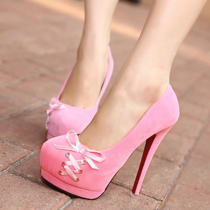 Sexy pink high heels