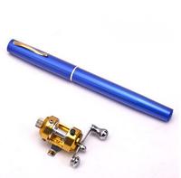 Metal Pen  Mini  Sea Fishing Rod Portable Fishing Pole Aluminum Pocket Pen Fishing Rod