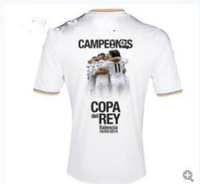Free shipping! AAA++++ thai quality REAL MADRID COPA DEL REY  soceer jersey world up 2015 football shirts