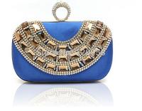 Luxury fashion u design finger ring rhinestone 7 colors women evening clutch bags small handbag purse bags ring bags wallets