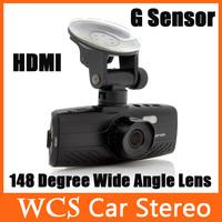 2.7 Inch LCD Screen 148 Degree Wide Angle Lens 5.0M COMS Sensor Loop-cycle recording 4 times digital zoom 1080p Full HD Car DVR