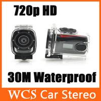 720p HD Video 30m Waterproof Case with  AV Port  Mini Sports DV Camera
