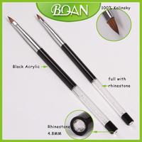 BQAN Crystal Rhinestone Handle Pure Kolinsky Acrylic Nail Brush