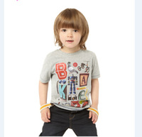 Cotton boy t-shirts summer sports cool style very popular  children's t-shirts