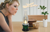 HAPTIME Blow On/Off Antique Kerosene-style LED Magic Lamp