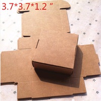 Wholesale,(1 Lot =20 Pcs) 9.5*9.5*3 CM DIY Scrapbooking Paper Kraft Gift Boxes Wedding Candy Decoration packaging Box