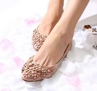 New 2014 Plus Size 35-41 Comfortable Women Exquisite Floral Flats Pregnant Flat Heel Shoes Fashion Shoes Wholesale