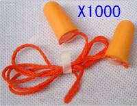 1000 X PCS  3m 1110 ear plugs with cord anti-noise earplugs type bullet foam earplugs