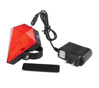 Rechargeable Diamond Design Bicycle Laser Tail Light with 9LED+2Laser Cycling Bike Rear Lamp