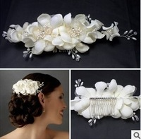 white flowers bridal head flower headdress hair accessories wedding dress jewelry hairgrip