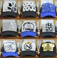 Wholesale Free Shipping Fashion tennis cap Trucker hats baseball cap female man sun hat