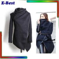 Elegant Women Long Sleeve Winter wool blender women Coat  winter Jacket Overcoat plus size XXL women winter fashion