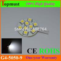 10pcs/lot LED G4 12V Lamp SMD5050 9LEDs 1.8W LED Corn Light DC 12V 120 Degree Replace Halogen Lamp