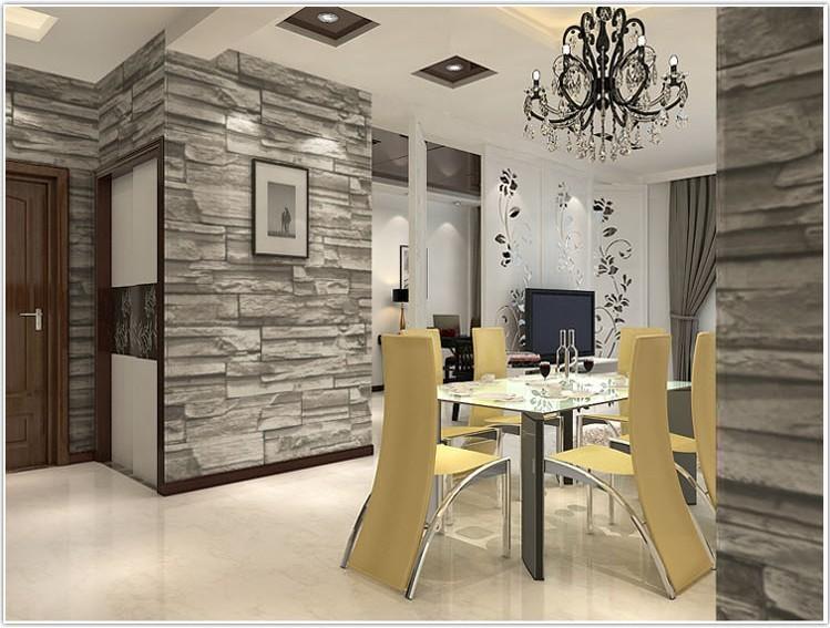Online kopen wholesale behang steen uit china behang steen groothandel - Modern muur steen ...