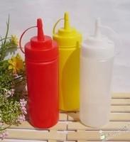 Plastic Kitchen Oil Sauce Ketchup Squeeze Bottle Condiment Dispenser 355ml