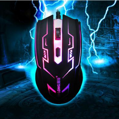 2014 free shipping 4D wired mouse game gaming mouse notebook usb mouse DPI1200 led breathing light(China (Mainland