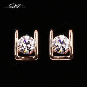 2014 Elegant AAA+CZ Diamond Stud Earrings 18K Золото/Platinum Plated Crystal Модный ...
