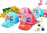 Retail Hot Spring children's baseball cap hat Children's Letter cap children ABC cap unisex  free shipping