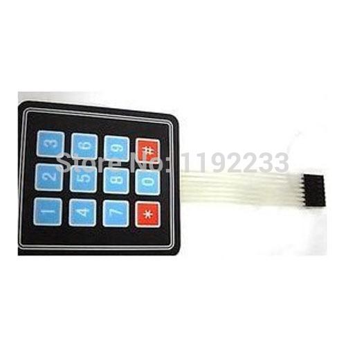 10pcs lot 3 4 Matrix Keypad Membrane Switch Outside Enlarge Keypad For Arduino