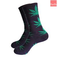Unisex Plantlife Marijuana Weed Plant Life Leaf Crew Sport Socks Purple Green
