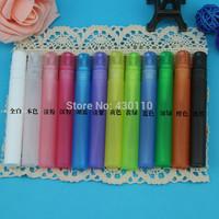 2014 Wholesale 12 colors Candy color 10ml plastic perfume atomizers 50pcs/lot