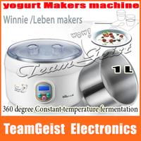 Genuine Bear Automatical yogurt mkers machine Digital LCD rice Winnie /Leben Maker machine 1L thick stainless steel inner gall
