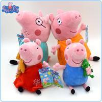 TOP SALE Anime Baby Toys 4PCS/SET Pepa Pig Peppa Pig Family Stuffed Plush Doll Peppa Pig Toys Teddy Bear George Pig Dinasour